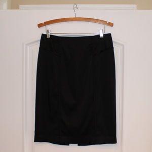 White House Black Market black satin pencil skirt